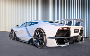 Picture supercar, rear view, Aria, hypercar, 2019, FXE