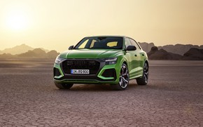 Picture sunset, Audi, desert, crossover, 2020, RS Q8