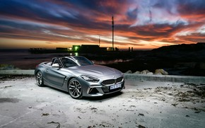 Picture sunset, the evening, BMW, BMW Z4, M40i, Z4, 2019