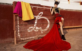 Picture girl, model, Spain, Matador