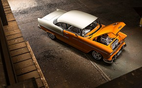 Picture Chevrolet, Car, Bel Air, Coupe, Old