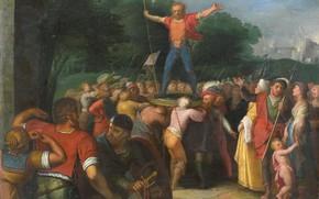 Picture oil, picture, 1613, Otto van Veen, Otto van Veen, Бринио Поднятый на Щите