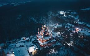 Picture winter, snow, landscape, nature, Crimea, Свято-Троице-Параскевиевский Топло́вский монастырь