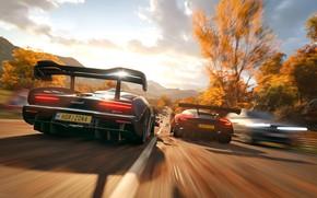 Picture Aston Martin, McLaren, Microsoft, game, 2018, Senna, Vulcan, Forza Horizon 4