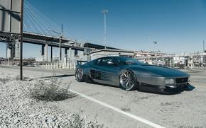 Picture Auto, Machine, Grey, Ferrari, Car, Car, Render, Rendering, Sports car, Testarossa, Grey, 512 TR, Ferrari …