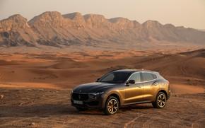 Picture desert, Maserati, the evening, crossover, 2017, Levante, Q4, GranSport, Levante S