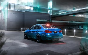 Picture Auto, Night, Blue, BMW, Machine, Car, Art, Render, Design, BMW M3, Transport & Vehicles, by …