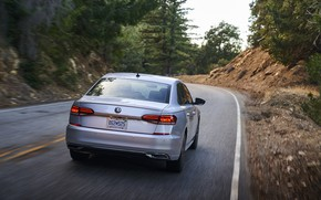 Picture road, Volkswagen, sedan, rear view, Passat, 2020, 2019, US Version