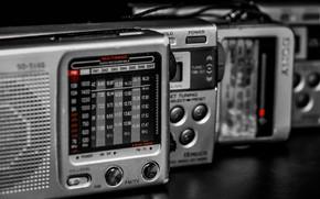 Picture macro, background, Pocket radio