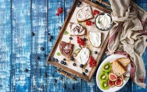 Picture berries, chocolate, fruit, dessert, sandwiches, Natasha Breen