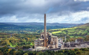 Picture landscape, nature, factory