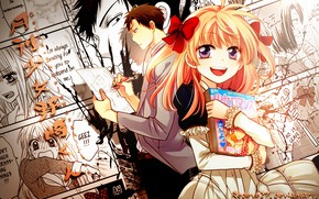 Picture girl, collage, art, guy, Nozaki is the author of shojo manga