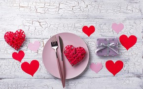 Picture table, gift, serving, Valentine's Day, Yuliya Furman