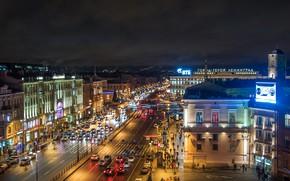Picture the city, street, view, Peter, Saint Petersburg, Russia, architecture, megapolis, Leningrad, Ploschad Vosstaniya