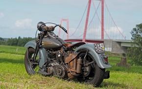 Picture Harley Davidson, Old, Vintage, Harley-Davidson, Custom, Thunderbike, Custom bike, Old Style, By Thunderbike, THE KNUCKLEHEAD