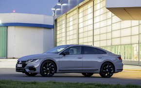 Picture grey, coupe, Volkswagen, side view, liftback, 2020, Arteon, 4Motion, R-Line Edition