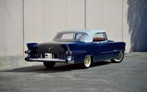 Picture Eldorado, Cadillac, Blue, Vintage, Convertible, 1955