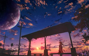 Picture the sky, girl, clouds, sunset, the evening, Sports tickets