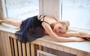 Picture window, ballerina, twine, Lili Tammi