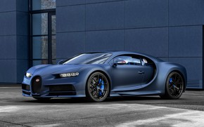 Picture machine, lights, Bugatti, optics, drives, Sport, hypercar, Chiron, 110 ans Bugatti