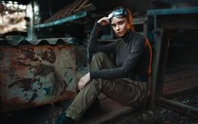 Picture Girl, sitting, Julia, Max Kuzin