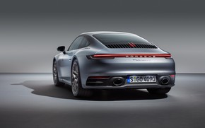Picture 911, Porsche, rear view, Carrera, Carrera 4S, 2019