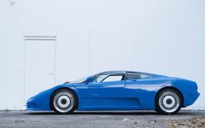Picture Blue, Supercar, Side view, Bugatti EB110