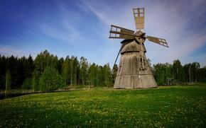 Picture windmill, Finland, Humppila