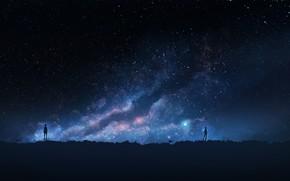 Picture the sky, night, people, K.Hati