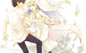 Picture girl, anime, art, guy, To Aru Majutsu no Index