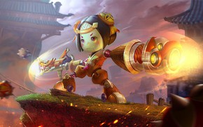 Picture weapons, the game, robot, girl, King of Glory, The king of glory