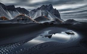 Picture nature, Iceland, Vestrahorn Islande