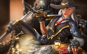 Wallpaper Girl, Disaster, Face, Eyes, Blizzard, Art, Game, Ashe, Overwatch, Calamity, BOB, Game Art, REW, by ...