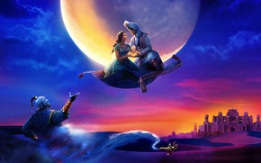Picture Disney, Fantasy, Clouds, Tiger, the, Night, Palace, Family, Aladdin, Will Smith, year, Castle, Magic, Princess, …