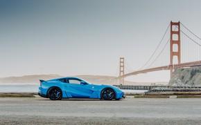 Picture bridge, supercar, sports car, Ferrari 812 Superfast