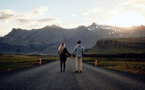 Picture Love, Woman, Romantic, Road, Man, Mood