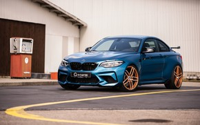 Picture BMW M2 G-Power 2019, BMW G-Power, BMW 2019 G-Power M2 Competition Light Blue, BMW M2 …