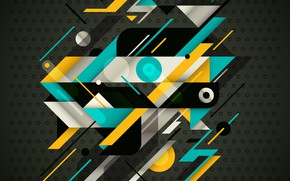 Picture abstraction, background, vector, geometry