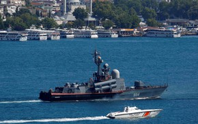 Picture large, boat, Turkey, rocket, Ivanovets, the Straits