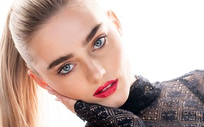 Picture look, girl, face, makeup, lips, beauty, Meg Donnelly