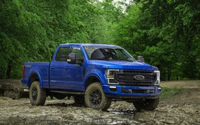 Picture forest, blue, Ford, pickup, Super Duty, F-250, Tremor, 2020, Off-Road Package, F-series