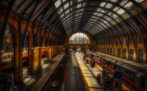 Picture london, train, Kings Cross Station