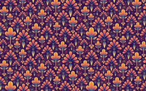 Picture flowers, pattern, symmetry
