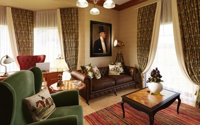 Picture design, interior, living room, English style, living room