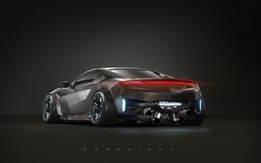 Picture Auto, Black, Machine, Fantasy, Car, Batman, Rendering, Concept Art, Transport, Dark Knight, Transport & Vehicles, …