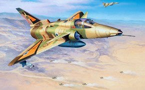 Picture Israeli air force, Kfir C.2, Israel Aerospace Industries, based on the Dassault Mirage III, S, …