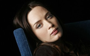 Picture look, girl, pose, actress, Emily Blunt, Emily Blunt, hair, make up