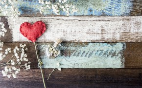 Picture love, flowers, heart, red, love, vintage, heart, wood, flowers, beautiful, romantic