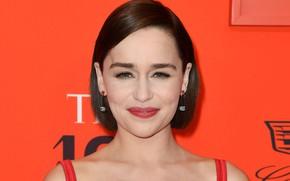 Picture look, pose, smile, actress, brunette, photoshoot, smile, view, hair, brunette, Emilia Clarke, pose, actress, Emilia …