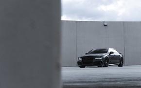 Picture Audi, Black, Quattro, Sportback, RS7, 4.0TT